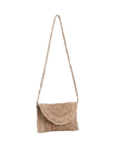 Petit sac bandoulière jute naturel, anse longue, magnet (31x19cm)