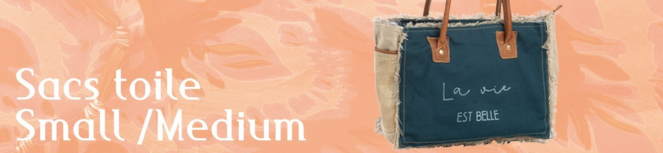 Small and Medium canvas bags
