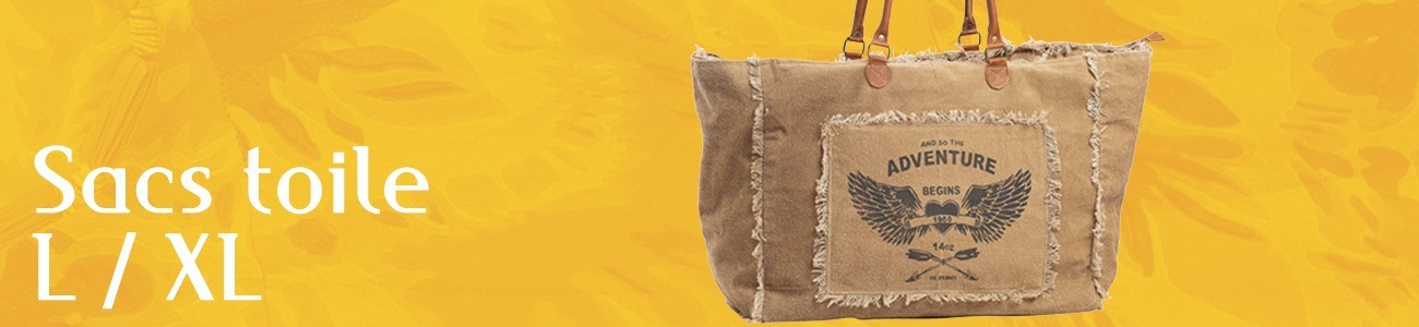 Large and XL canvas bags